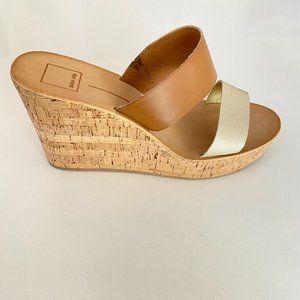 DOLCE VITA Pimms Cork Wedge Sandals SIZE 10